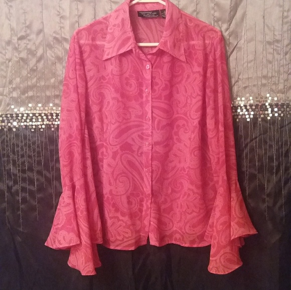 New York City Design Co Tops - $23. Bell Sleeved Paisley Button down